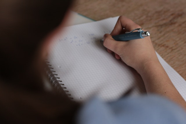 סטודנטית בודקת איך כותבים סקירה ספרותית בסמינריון